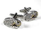 Steampunk Cufflinks, Watch Cufflinks, Novelty Cufflinks and Tie Tacs